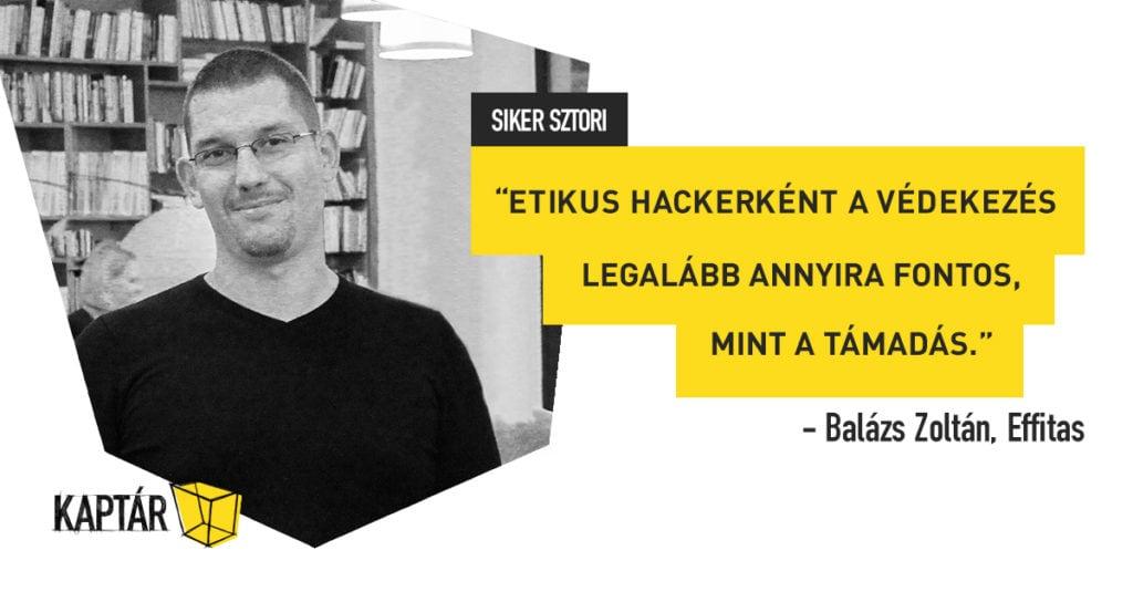 KAPTÁR sikersztorik – Balázs Zoltán