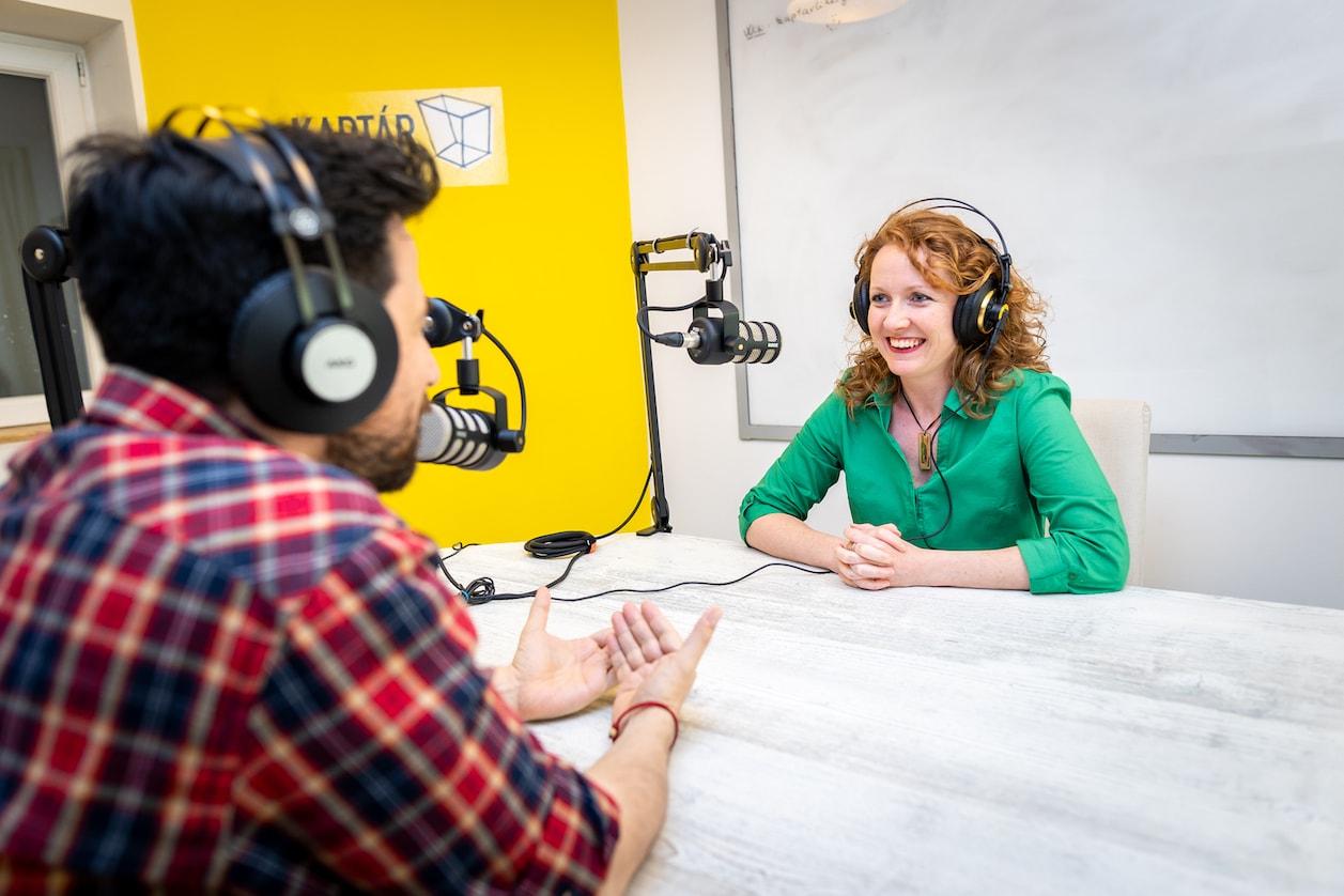 Podcast studio at KAPTÁR